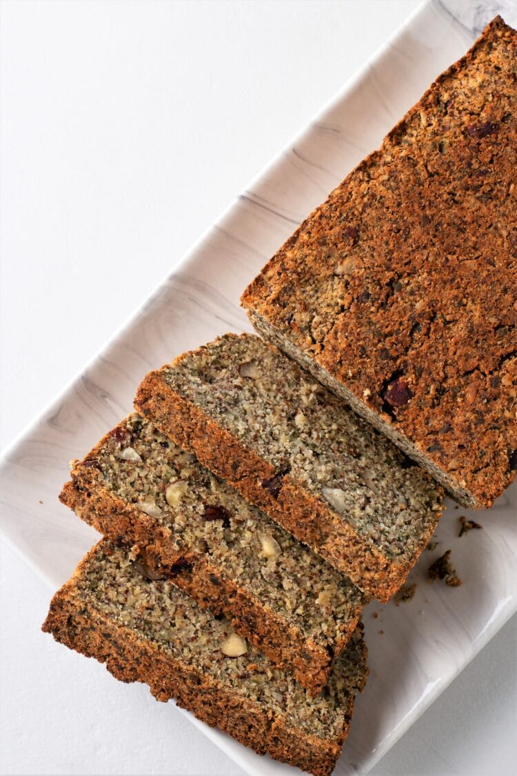 Our keto life-changing bread is made with seeds and plenty of other nutritious ingredients.