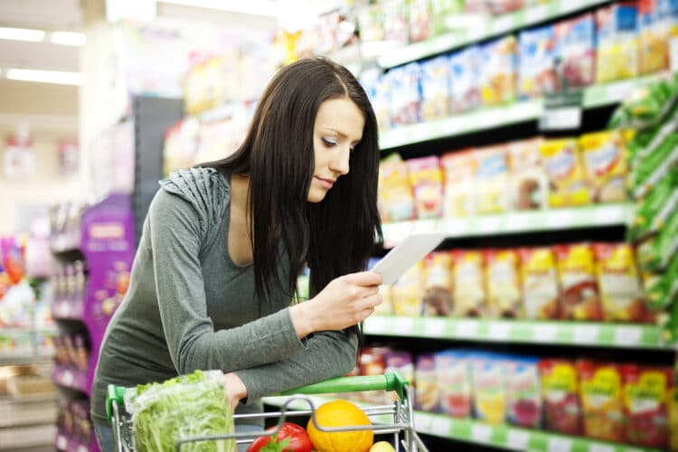Have a plan and stick to the list when you're grocery shopping.