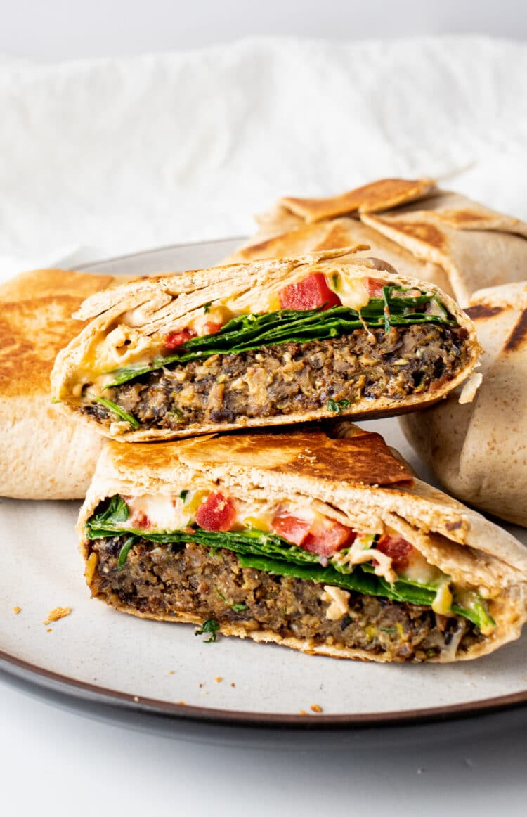This recipe is a combination fo burger and quesadilla!