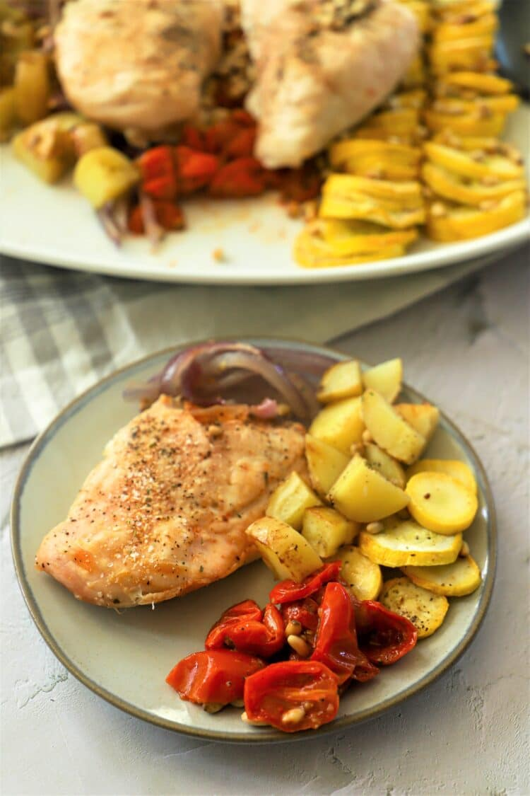 This well-rounded summertime meal is perfect for eating outdoors!