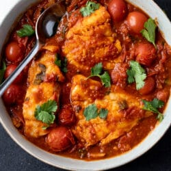 Make our spicy fish in tomato sauce any night of the week!