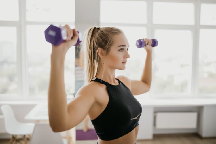 Build the upper part of your hour glass by working your upper body!