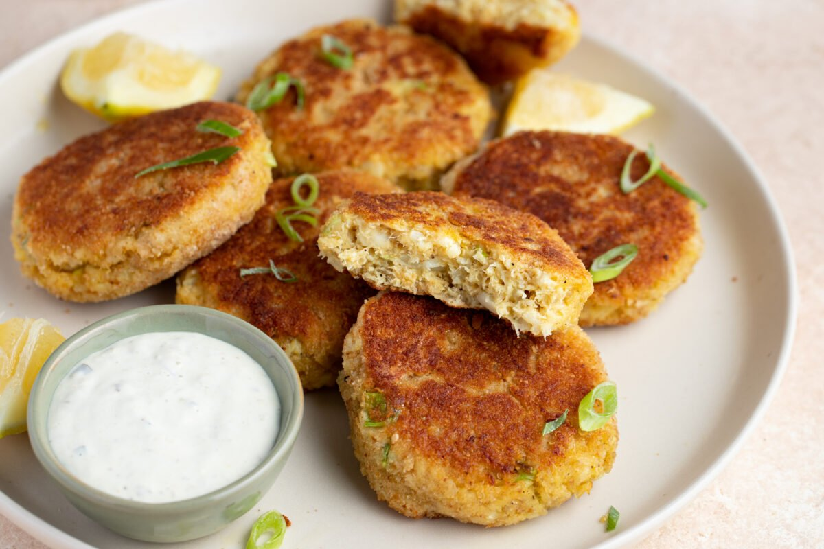 Make up a batch of these cod fish cakes whenever your fried food cravings strike!