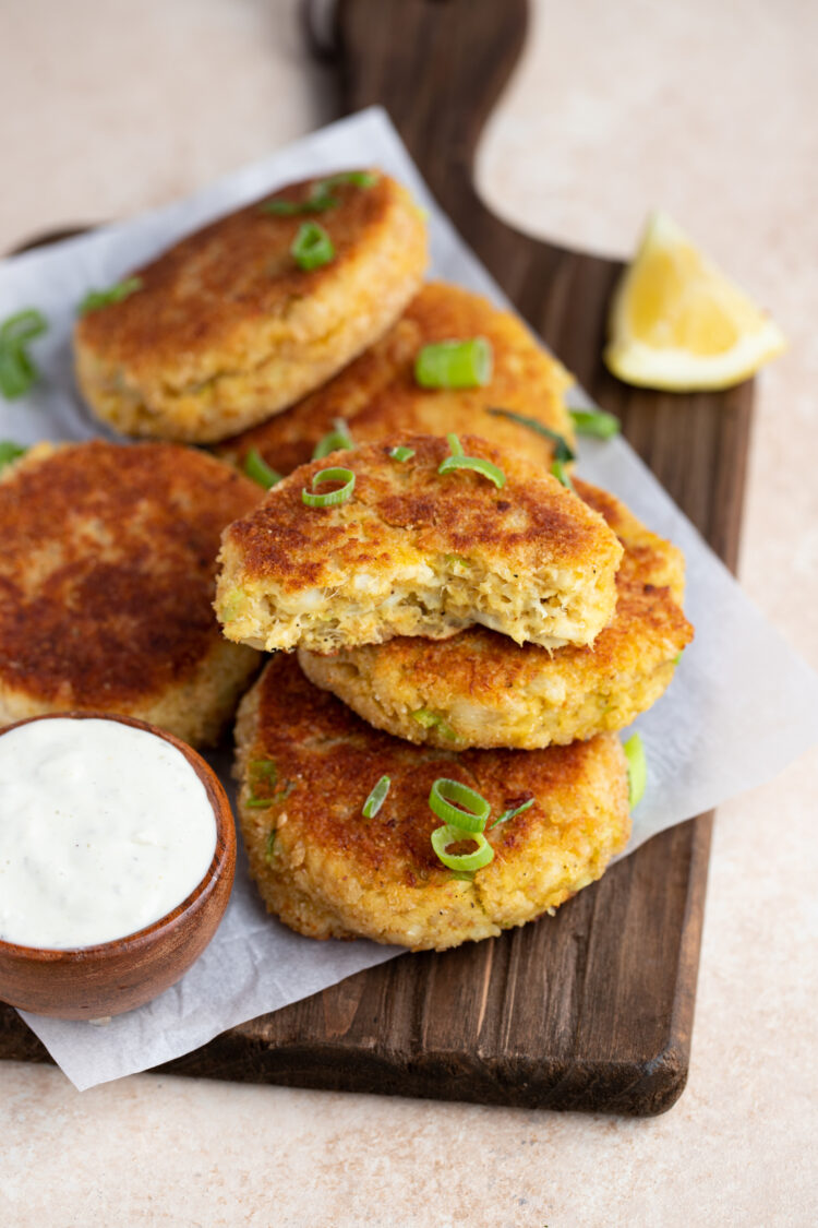 Our fish cakes make an excellent appetizer or light lunch or dinner.