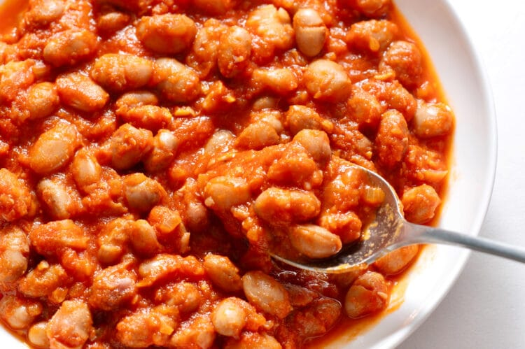 Our homemade baked beans are so much better than premade, canned options!